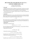 Đề cương ôn tập chương II Vật lý 11 – Chương trình nâng cao