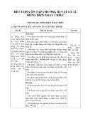 Đề cương ôn tập chương III Vật lý 12 Dòng điện xoay chiều