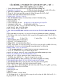 Câu hỏi trắc nghiệm ôn tập chương I Vật lý 11