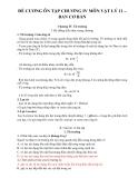 Đề cương ôn tập chương IV môn Vật lý 11 – Ban cơ bản