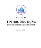 Bài giảng Tin học ứng dụng: Phần 1 - ĐH Nha Trang