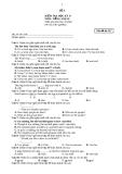 Trắc nghiệm tiếng Anh lớp 10 học kì 2 năm 2013: Đề 17