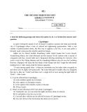 Trắc nghiệm tiếng Anh lớp 10 học kì 2 năm 2013: Đề 11