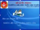 Báo cáo chuyên đề : Nhiên liệu LPG và ứng dụng của LPG