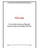 Tiểu luận: Vai trò nhân sinh quan Phật giáo trong Văn hóa truyền thống Việt Nam