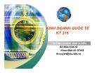 Bài giảng Kinh doanh quốc tế: Giới thiệu môn học - Trương Khánh Vĩnh Xuyên