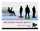 Thuyết trình kinh doanh quốc tế: Môi trường văn hóa quốc tế