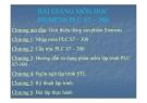Bài giảng Siemens PLC S7 – 300