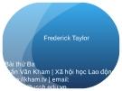 Bài giảng Xã hội học lao động: Bài 3 - Trần Văn Kham