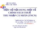 Bài giảng Một số nội dung mới về chính sách thuế thu nhập cá nhân (TNCN) - Tạ Thị Phương Lan