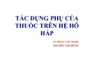 Bài giảng Tác dụng phụ của thuốc trên hệ hô hấp - TS. Trần Văn Ngọc