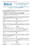 Tuyển chọn những bài tập hay và khó môn Hóa học - Đề 10