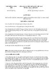 Quyết định 2075/QĐ-TTg năm 2013 do Thủ tướng Chính phủ ban hành