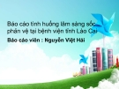 Báo cáo: Tình huống lâm sàng sốc phản vệ tại bệnh viện tỉnh Lào Cai - Nguyễn Việt Hải