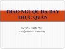 Bài giảng Trào ngược dạ dày thực quản - Dr. Trần Ngọc Ánh