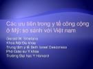 Bài giảng Các ưu tiên trong y tế công cộng ở Mỹ: so sánh với Việt nam - Gerald W. Smetana