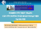 Báo cáo: Nghiên cứu thực trạng cấp cứu ngừng tuần hoàn ngoại viện tại Hà Nội