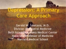 Depression: A primary care approach - Gerald W. Smetana, M.D