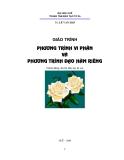 Giáo trình Vi phân và phương trình đạo hàm riêng: Phần A - TS. Lê Văn Hạp