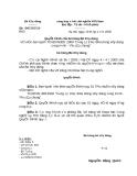 Quyết định số 04/2005/QĐ-BXD