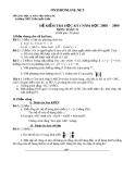 Đề kiểm tra môn Toán 11 học kỳ 1 năm 2008-2009 - Trường THPT Trần Quốc Toản