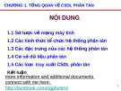 Bài giảng Tổng quan về CSDL phân tán