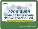 Bài giảng Quan hệ công chúng: Bài 1 - Ths. Đinh Tiên Minh