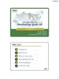 Bài giảng Marketing Quốc tế: Bài mở đầu - Ths. Đinh Tiên Minh