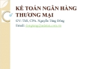 Bài giảng Kế toán ngân hàng thương mại: Chương 1 - Ths. Nguyễn Tăng Đông