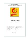 Bài tập Dao động kỹ thuật -  ĐH Công nghiệp Hà Nội