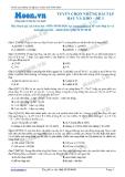 Tuyển chọn những bài tập hay và khó môn Sinh học - Đề 5