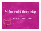 Bài giảng Viêm ruột thừa cấp - BS. Nguyễn Đức Long