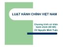 Bài giảng Luật hành chính Việt Nam: Chương 1 - GV Nguyễn Minh Tuấn