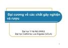 Bài giảng Đại cương về các chất gây nghiện và rượu - Đại học Y Hà Nội