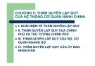 Bài giảng Thẩm quyền hành chính: Chương 2 - GV. Nguyễn Minh Tuấn