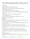 Đề cương ôn tập Địa lí dân cư (bài 16 - bài 19)