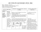 Đề cương ôn tập Sinh học lớp 10 – HK2
