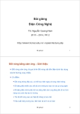 Bài giảng Điện Công Nghệ: Bài giảng 3 - TS. Nguyễn Quang Nam