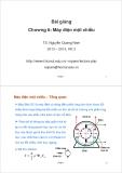 Bài giảng Máy điện: Chương 6 - TS. Nguyễn Quang Nam