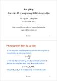 Bài giảng Thiết kế máy điện - TS. Nguyễn Quang Nam