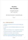 Bài giảng Điện Công Nghệ: Bài giảng 2 - TS. Nguyễn Quang Nam