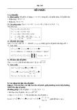 Lý thuyết và các dạng bài tập số phức