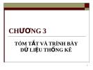 Bài giảng Nguyên lý thống kê: Chương 3 - GV. Quỳnh Phương