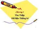 Bài giảng Nguyên lý thống kê: Chương 2 - GV. Quỳnh Phương