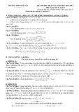 Đề thi thử ĐH môn Toán khối A,A1,B,D năm 2013-2014 - Trường THPT Quế Võ 1