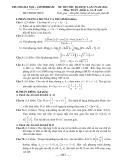 Đề thi thử ĐH môn Toán khối A, A1,B, D lần 1 năm 2014 - Trường Hà Nội Amsterdam
