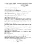 Đề thi khảo sát chất lượng môn Toán lần 1 khối A, B, D năm 2013-2014 - Trường THPT Tống Duy Tân
