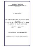 Luận văn thạc sỹ quản trị kinh doanh: Ngân hàng thương mại ngoài quốc doanh ở Việt Nam - thực trạng phát triển và một số đề xuất, kiến nghị