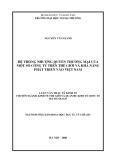 Luận văn thạc sỹ kinh tế: Hệ thống nhượng quyền thương mại của một số công ty trên thế giới và khả năng phát triển vào Việt Nam
