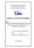 Khóa luận tốt nghiệp: Kinh doanh ngoại hối tại ngân hàng thương mại cổ phần kỹ thương Việt Nam - Hiện trạng và giải pháp